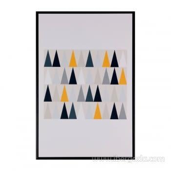 Cuadro TRIANGULOS Marco Negro (40x60)