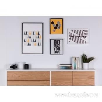 Cuadro TRIANGULOS Marco Negro (40x60) - 1