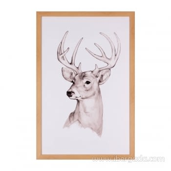 Cuadro DEER Marco Roble (40x60)