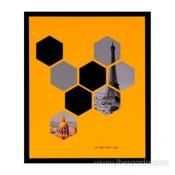 Cuadro HEXAG Marco Negro (25x30)