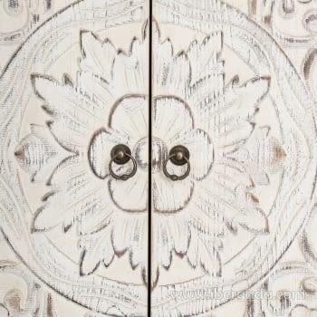 Armario Oriente Blanco Rozado 4 puertas y 3 Cajones - 4