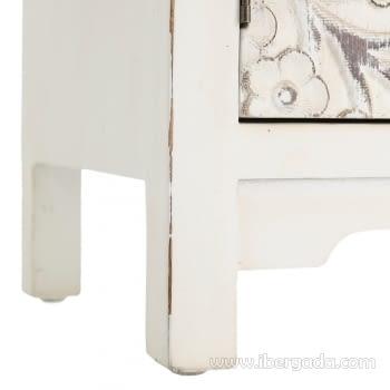 Armario Oriente Blanco Rozado 4 puertas y 3 Cajones - 7