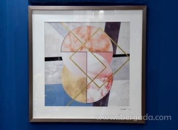 Cuadro Geométrico II Marco plata (64x64)