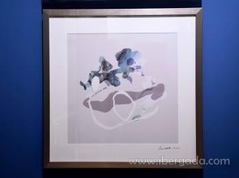 Cuadro Abstracto Marco plata (50x50)