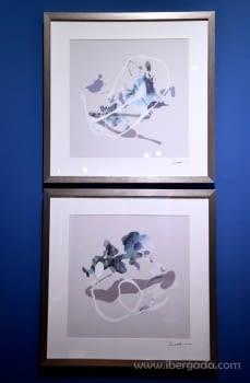 Cuadro Abstracto Marco plata (50x50) - 1