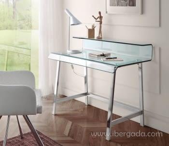 Mueble escritorio DK-903 Acero/Cristal
