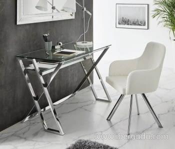 Mueble escritorio DK-905 Acero/Cristal