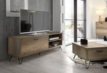 Mueble de TV Kansas Madera/Hierro 2 puertas (150x40)