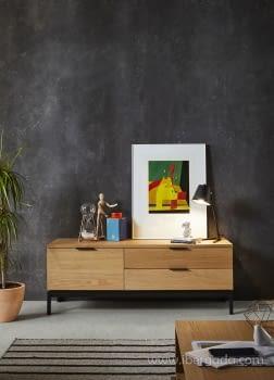 Mueble de TV Manhattan Madera/Hierro