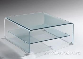 Mesa Cristal Cuadrada Drew (60x60)