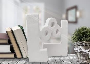 Escultura Agua Óxido Blanco