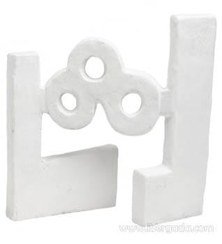 Escultura Agua Óxido Blanco - 2