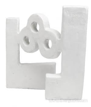 Escultura Agua Óxido Blanco - 3