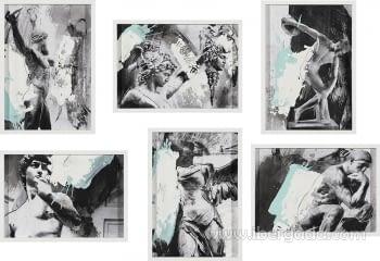 Colección 6 Cuadros James (44x32)