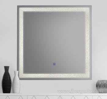 Espejo Jupiter LED Cuadrado (70x70)
