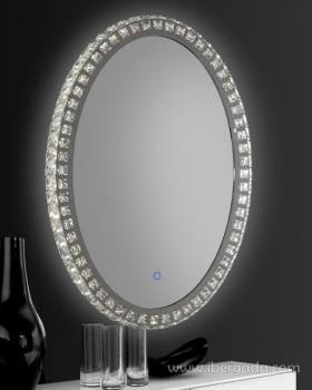 Espejo Neptuno LED Oval (50x70)