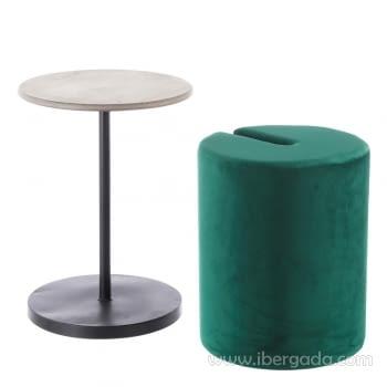 Conjunto Mesa-Puff Verde - 1