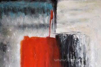 Cuadro Abstracto con Marco madera (120x100) - 1
