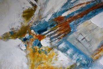 Cuadro Abstracto con Marco madera I (100x100) - 1