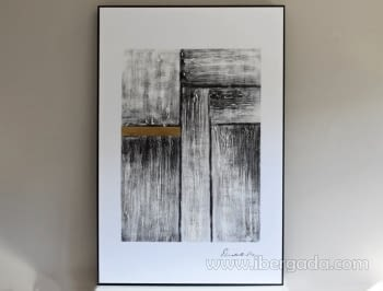 Cuadro Abstracto con Marco negro III (135x90)