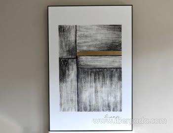 Cuadro Abstracto con Marco negro IV (135x90)