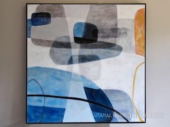 Cuadro Abstracto con Marco negro (115x115)