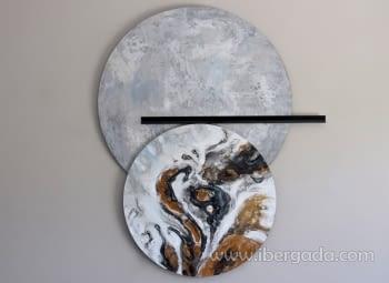 Cuadro Decoración Mural Esferas I (125x103)