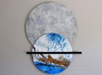 Cuadro Decoración Mural Esferas II (125x103)