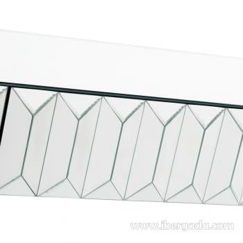 Consola Plata-Espejo 2 Cajones - 2