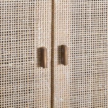 Armario Mimbre/Madera 2 Puertas - 2