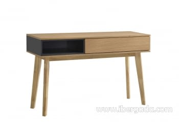 Consola Odense Roble/Gris (120x40x75)