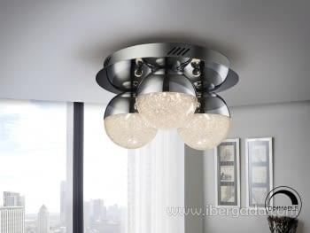 Plafon Sphere 3L Cromo Dimable con mando