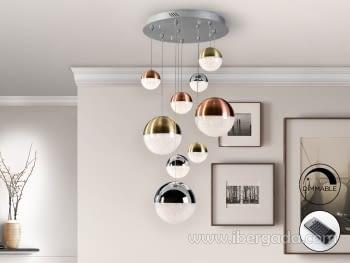 Lampara Sphere 9L Dimable con Mando (50x50)