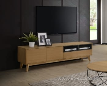 Mesa TV Odense Roble/Gris (170x40)
