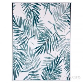Cuadro BLUE PALM Marco Blanco (60x80)