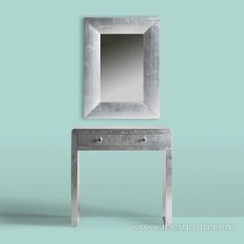 Consola Lidia Silver Plata 2 cajones - 4