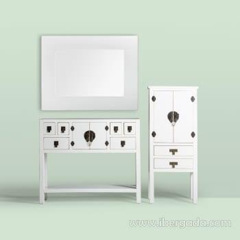 Espejo Hong Kong Blanco (90x70) - 2