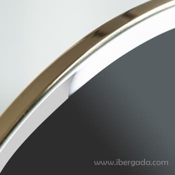 Espejo Oval White Fussion Gold Oro (110x70) - 1
