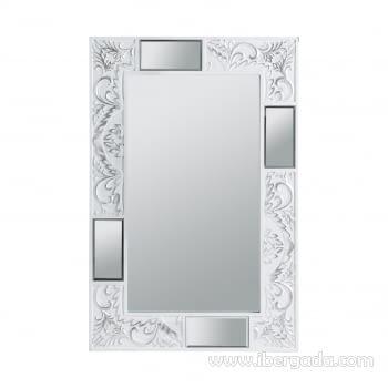 Espejo Texturas Blanco (90x60)