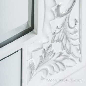 Espejo Texturas Blanco (90x60) - 1