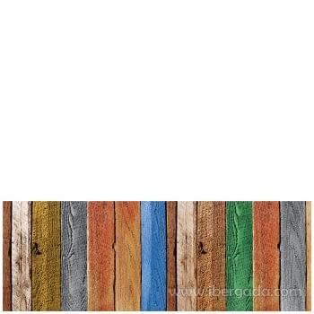 Alfombra Vinílica Tablas de madera - 1