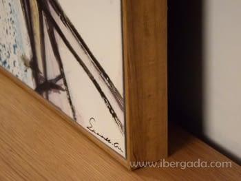 Cuadro Abstracto con Marco Madera (135x90) - 3