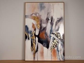 Cuadro Abstracto con Marco Madera II (135x90)