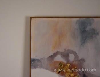 Cuadro Abstracto con Marco Madera II (135x90) - 2