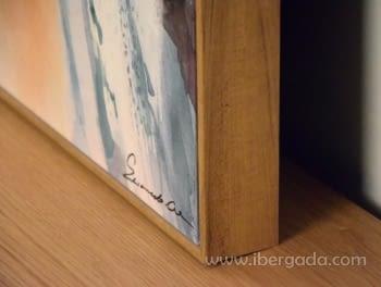 Cuadro Abstracto con Marco Madera II (135x90) - 3
