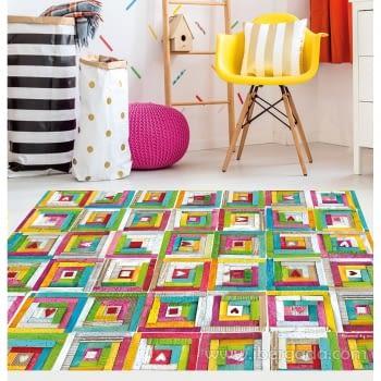 Alfombra Vinílica Infantil Color Patchwork - 1