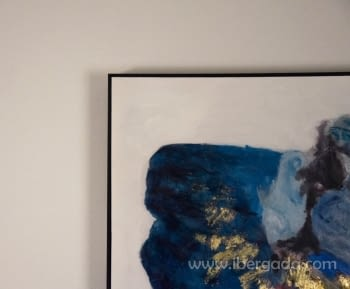 Cuadro Abstracto con Marco Negro II (120x90) - 2