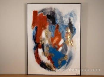 Cuadro Abstracto con Marco Negro I (120x90)