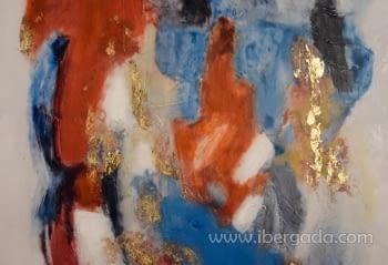Cuadro Abstracto con Marco Negro I (120x90) - 1