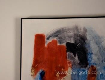 Cuadro Abstracto con Marco Negro I (120x90) - 2